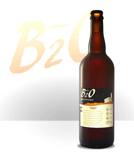 Birra ambrata Gabi 75 cl